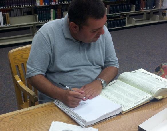 Gavin at library